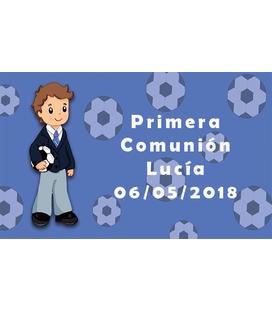 PLIEGO TARJETA COMUNION 16UD. IMPRESION
