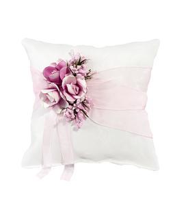 cojin-lazo-organza-y-flores-rosa